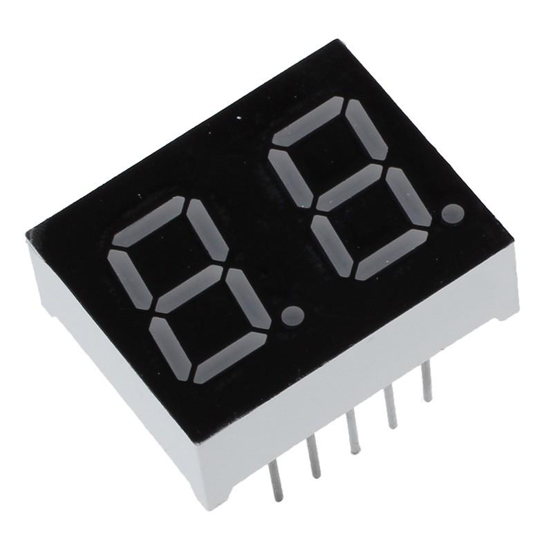 "5 Pcs Common Cathode 10 Pin 1 Bit 7 Segment 1/"" Red LED Display Digital Tube"