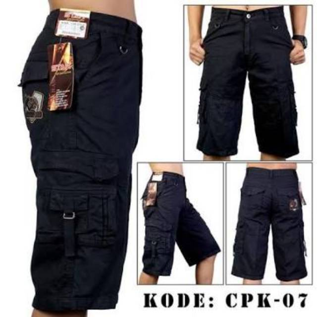 [BEST SELLER] Celana Cargo Pendek Pria Army Loreng Ufc