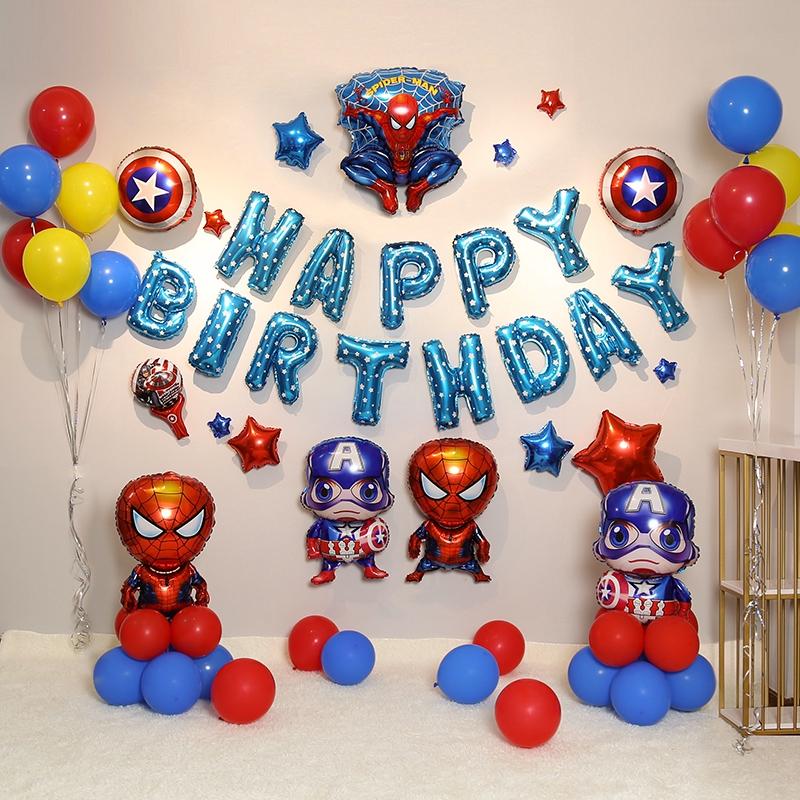 Ulang Tahun Captain America Marvel Tema Dekorasi Bayi Laki Laki Balon Anak Adegan Pesta Pesta Tata L Shopee Indonesia