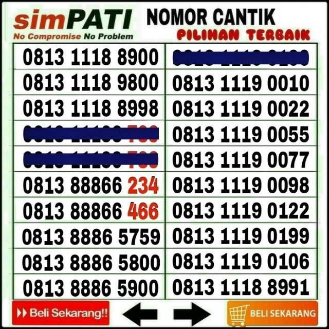 Nomor Cantik AS Seribu Kartu Perdana Telkomsel pulsa 5rb Triple Nol Kosong - 0852 1000 Rapi | Shopee Indonesia