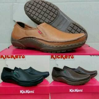 Sepatu kerja pria sepatu kulit asli sepatu kickers sepatu kantor sepatu  pria sepatu formal pria 6df0bb54f9