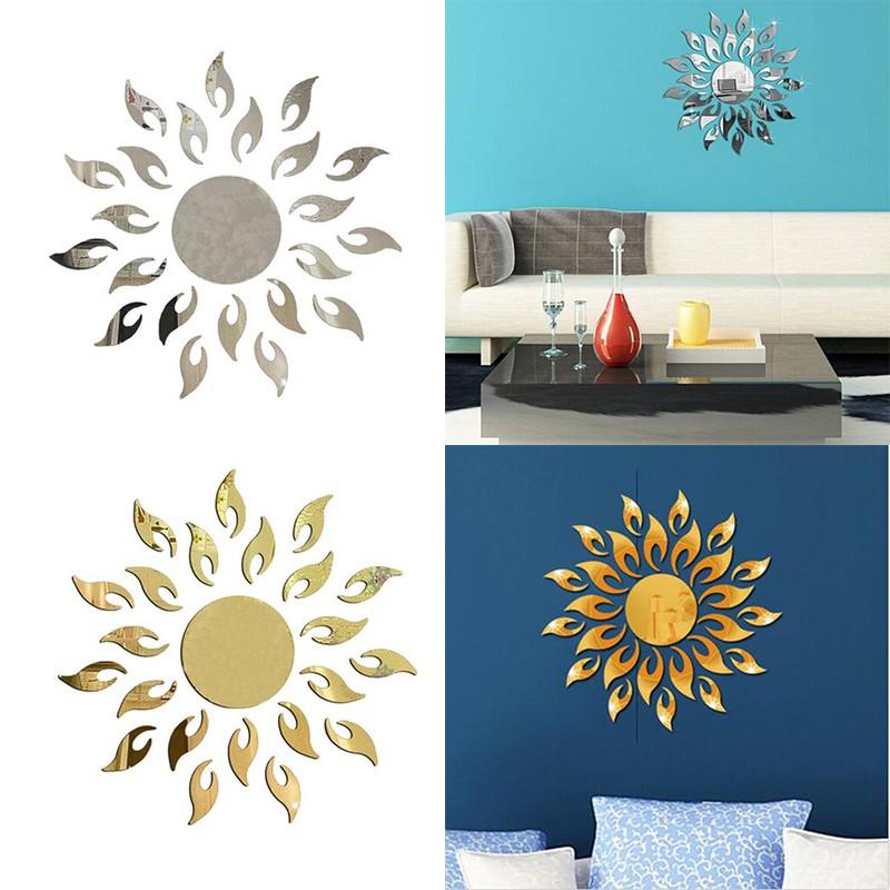 Stiker Dinding Bunga Matahari Diy Stiker Dinding Cermin Ruang Tamu Stiker Dinding Dekoratif Shopee Indonesia
