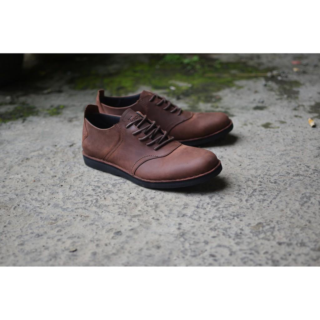 Sepatu Kasual Formal Pria Kulit Asli Toods Spectre Brown Update Footwear Longwing 100 Original