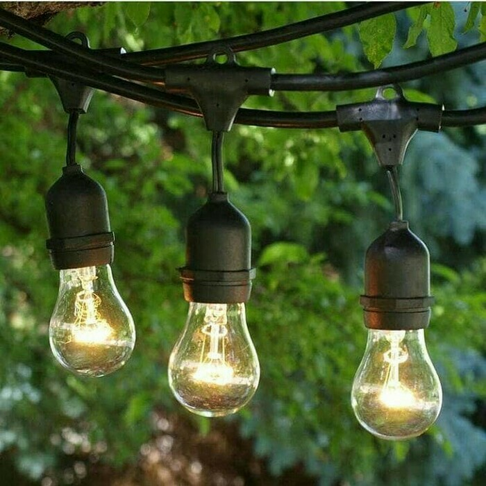 Kabel Fitting Gantung Lampu Outdoor Taman Dekorasi Per Meter 2 Fitting Shopee Indonesia