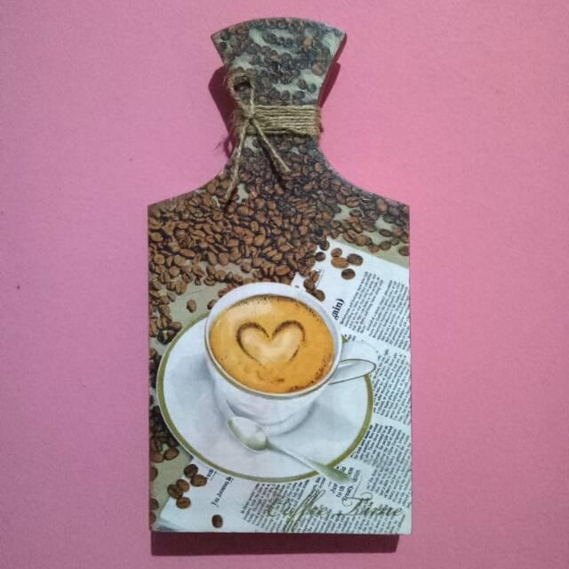 Talenan Decoupage Coffee   Talenan Hias   Walldecor   Custom ... 0f5f69c94d
