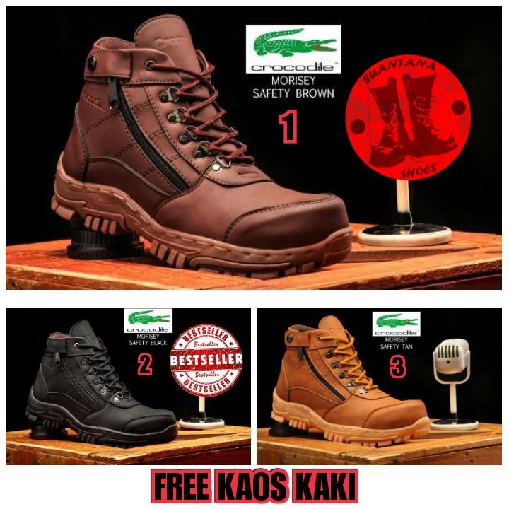 Crocodile Morisey   Sepatu Safety Boots   Steel Toe Shoes   Sepatu Proyek   Sepatu  Kerja Lapangan  10536c72bd