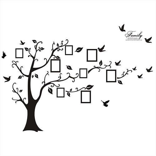 Stiker Dinding Decal Mural 3d Bentuk Pohon Burung Bahan Pvc Ukuran Besar U Bingkai Foto Keluarga Shopee Indonesia