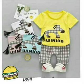 Baju Anak Cowok Import Baju Anak Bayi 1 2 3 4 tahun Setelan Anak Fashion Baju