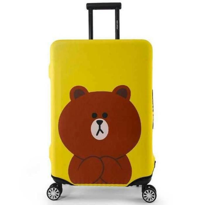Sarung Penutup Koper Bahan Tahan Lama, Sangat Elastis Ukuran 19-21 inch luggage | Shopee Indonesia