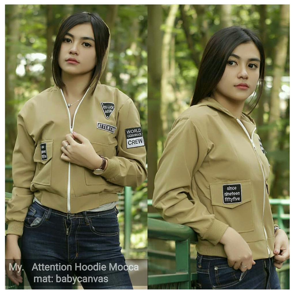 JAKET HOODIE ATTENTION MOCCA  ae08463444