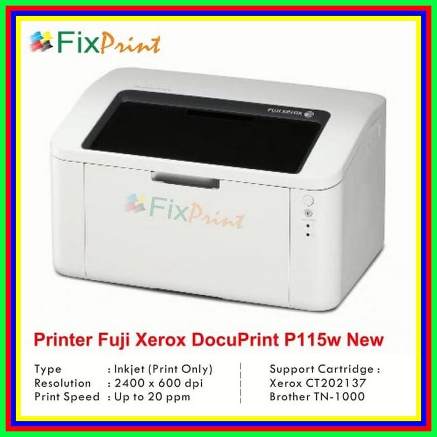 Printer Laserjet Fuji Xerox P115w Docuprint P115 W Wireless Monochrome Shopee Indonesia