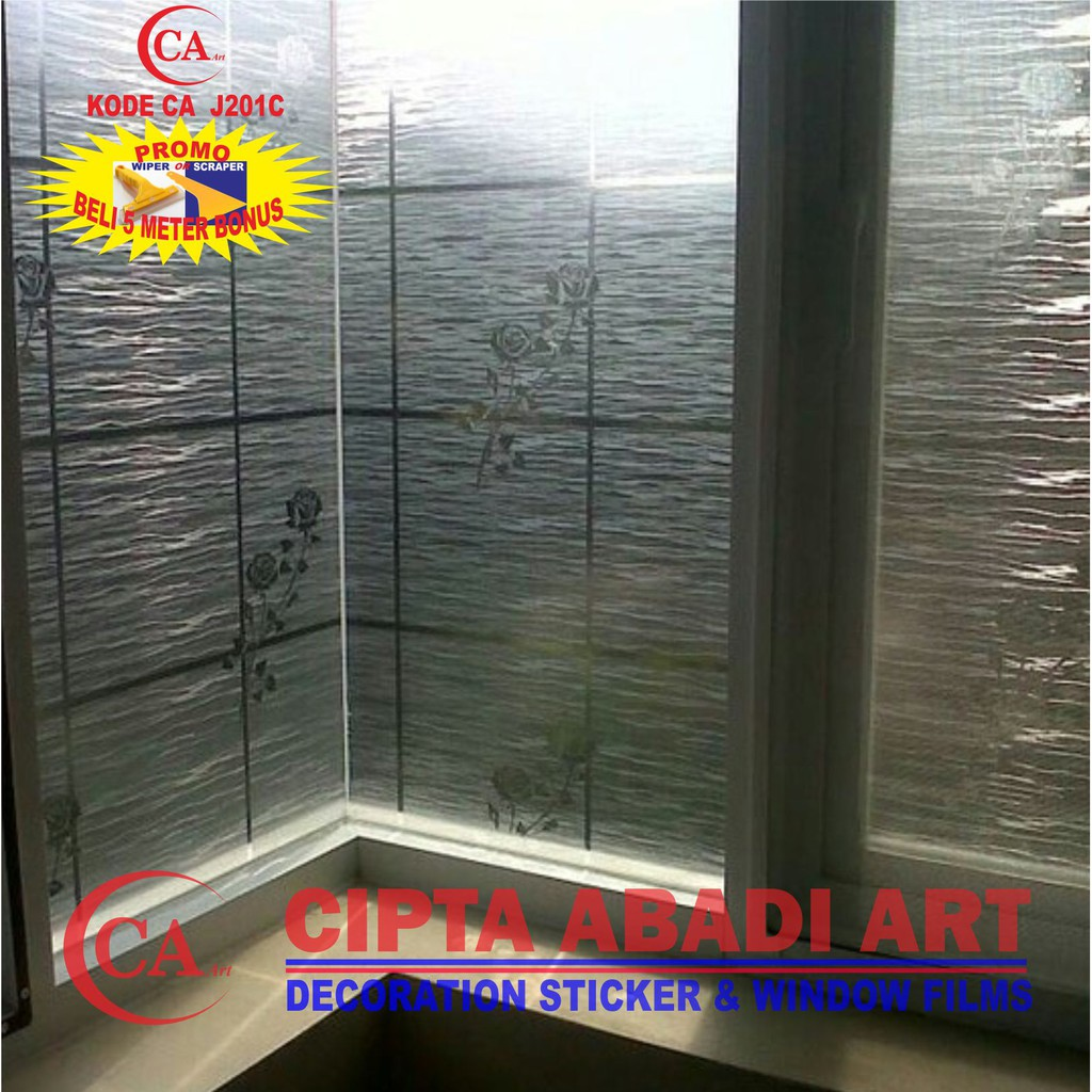 Hot sale sticker stiker kaca motif bunga warna window film shopee indonesia
