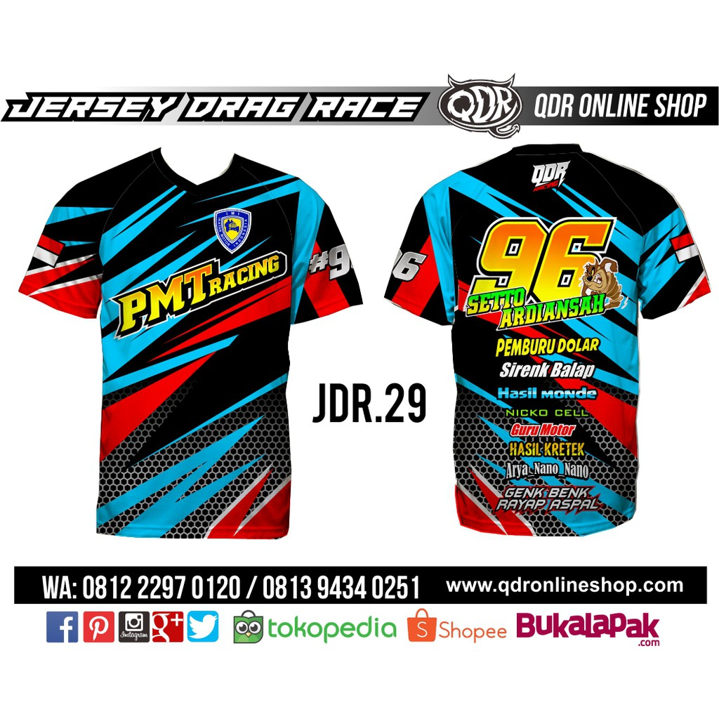 Jersey drag race jdr 08 shopee indonesia