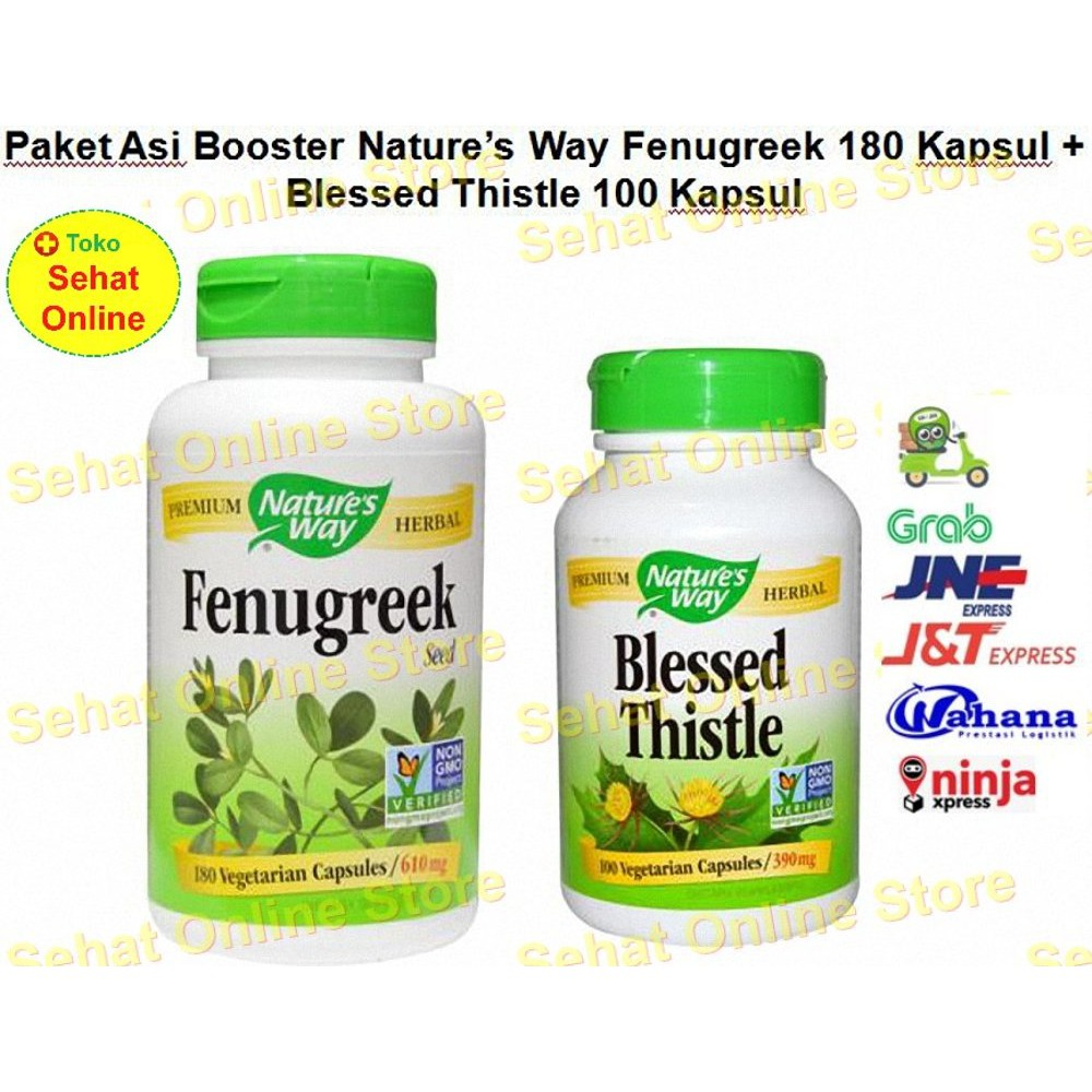 Paket Asi Booster 2 Fenugreek 180 dan Blessed Thistle 100 Vegetarian Caps | Shopee Indonesia