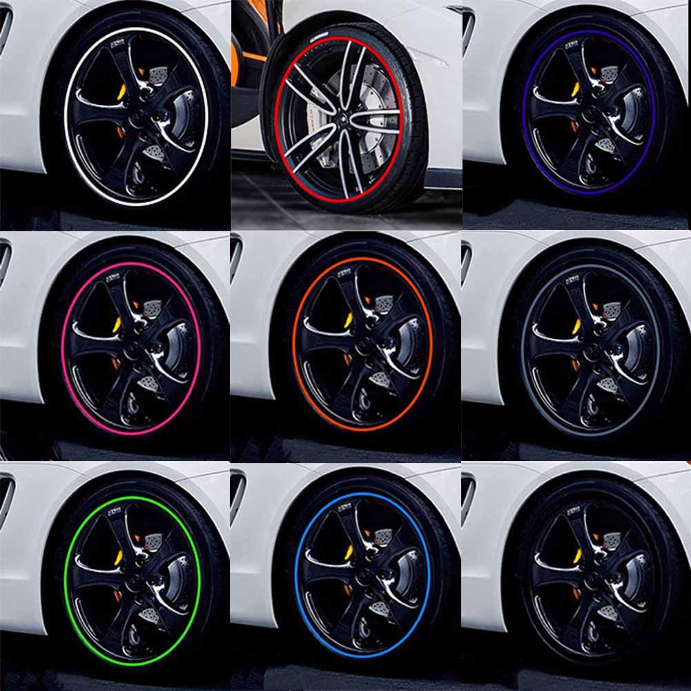 Buytra Wheel Rim Stiker Untuk Mobil Dan Sepeda Motor Daftar Update Sticker Velg Merah Scoopy New K93 871x0k93a00red 16 Pcs Strip Roda Decals 14 17 18 Reflektif Pita 5
