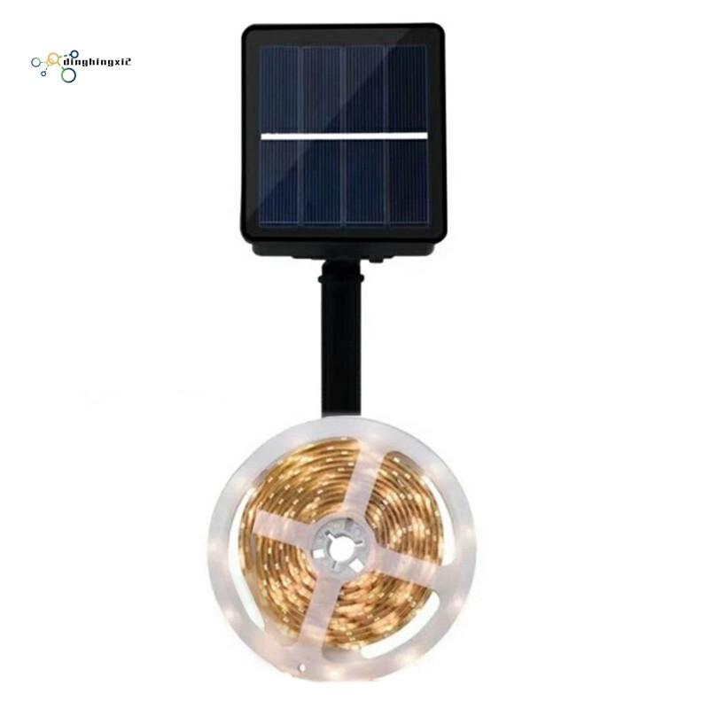 Lampu Strip 150 Led Rgb Tenaga Surya Untuk Dekorasi Taman Natal Shopee Indonesia