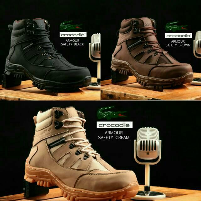 Sepatu Boots Safety Casual Crocodile Armour Boot Worksafe Pria Murah ... 425a83e955