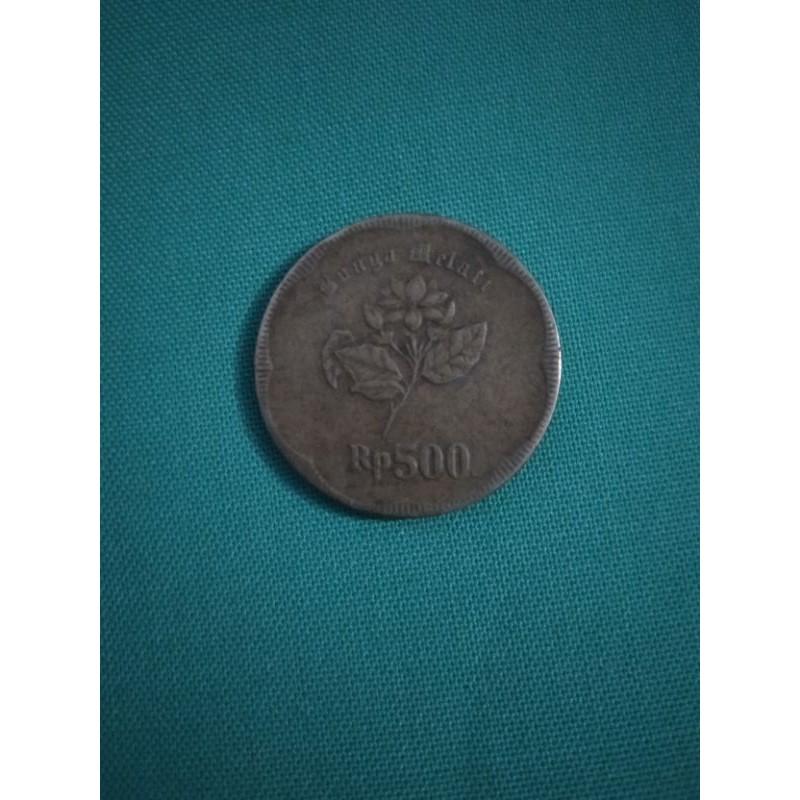 Uang Koin 500 Rupiah Gambar Melati Tahun 1992 Asli