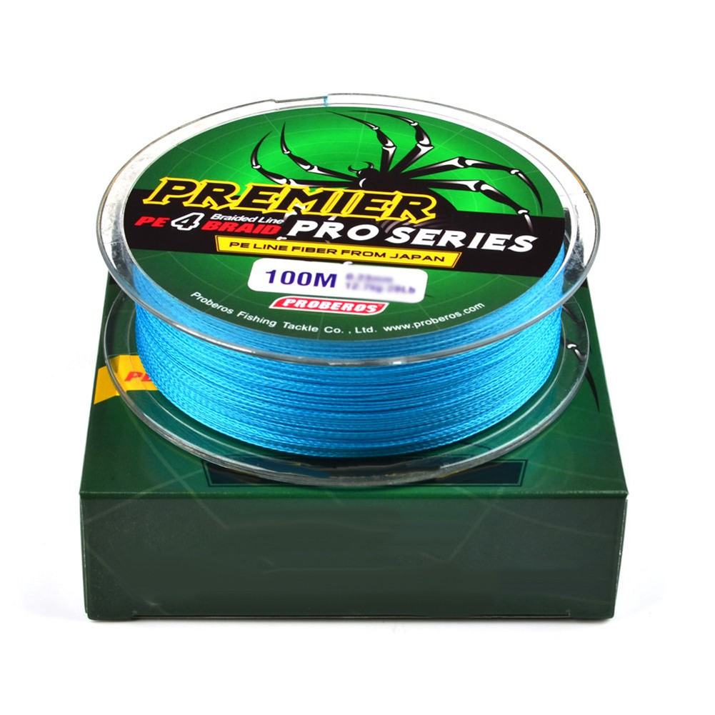 100M 4 Stands Super Strong PE Braided Sea Fishing Line Multifilament Angling