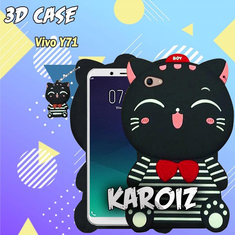Case Karater Vivo V9 Softcase 4D Karakter Boneka Hello Kitty Doraemon Lucu Character Cartoon | Shopee Indonesia