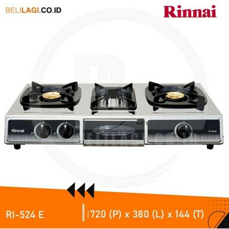 Kompor Rinnai GAS RI-524E Kompor Gas 3 Tungku