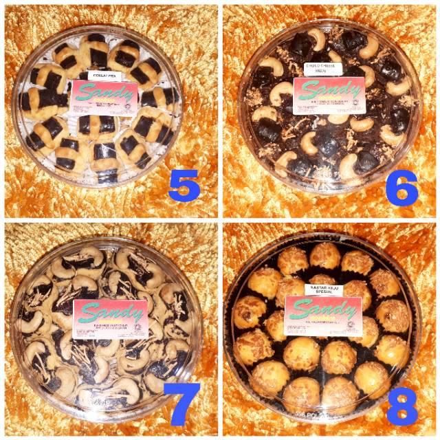Sandy cookies merah/ hijau