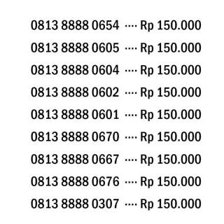 TELKOMSEL Kartu Perdana SIMPATI Nomer Cantik Rapi Nocan Mirah Meriah Kwarted. suka .