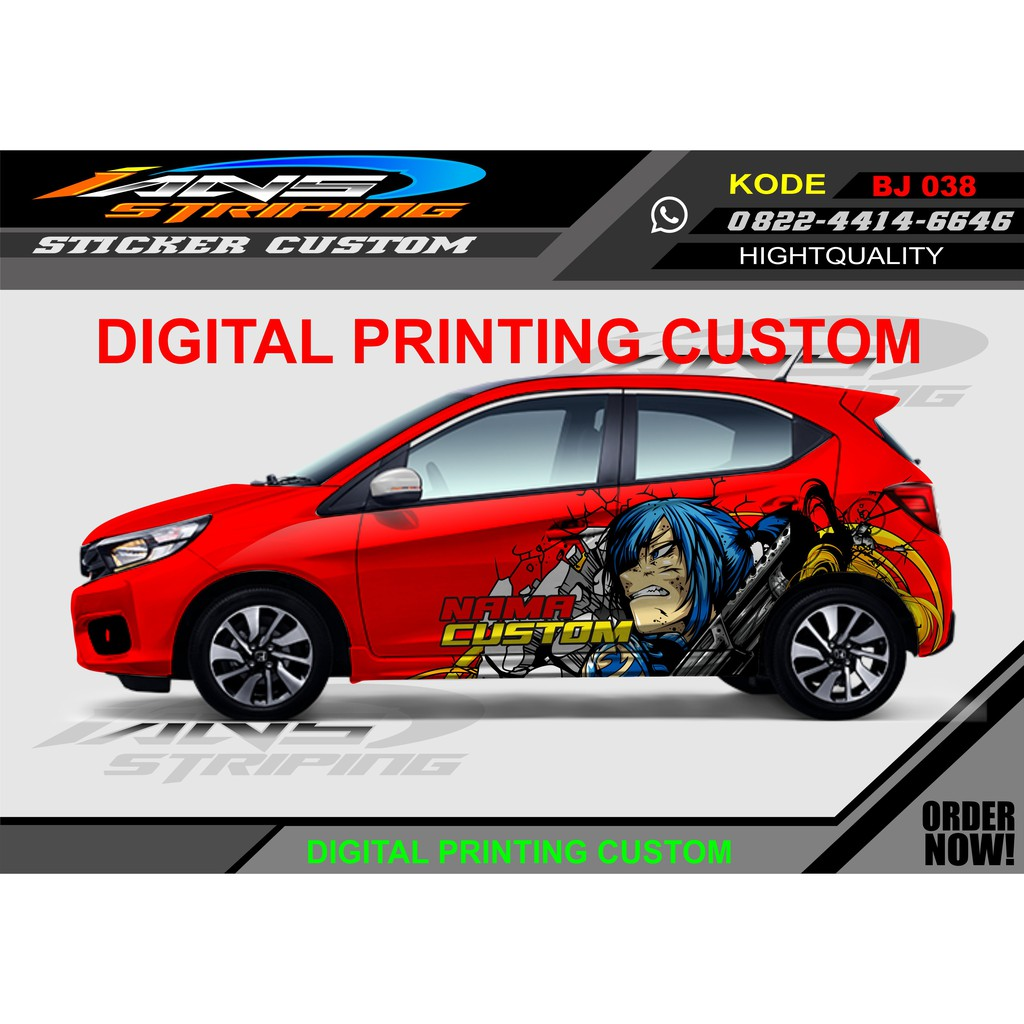Decal Stiker Mobil Brio Variasi Striping Mobil Kartun Shopee Indonesia