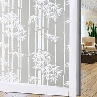 stiker kaca jendela rumah transparan bambu dekorasi kamar