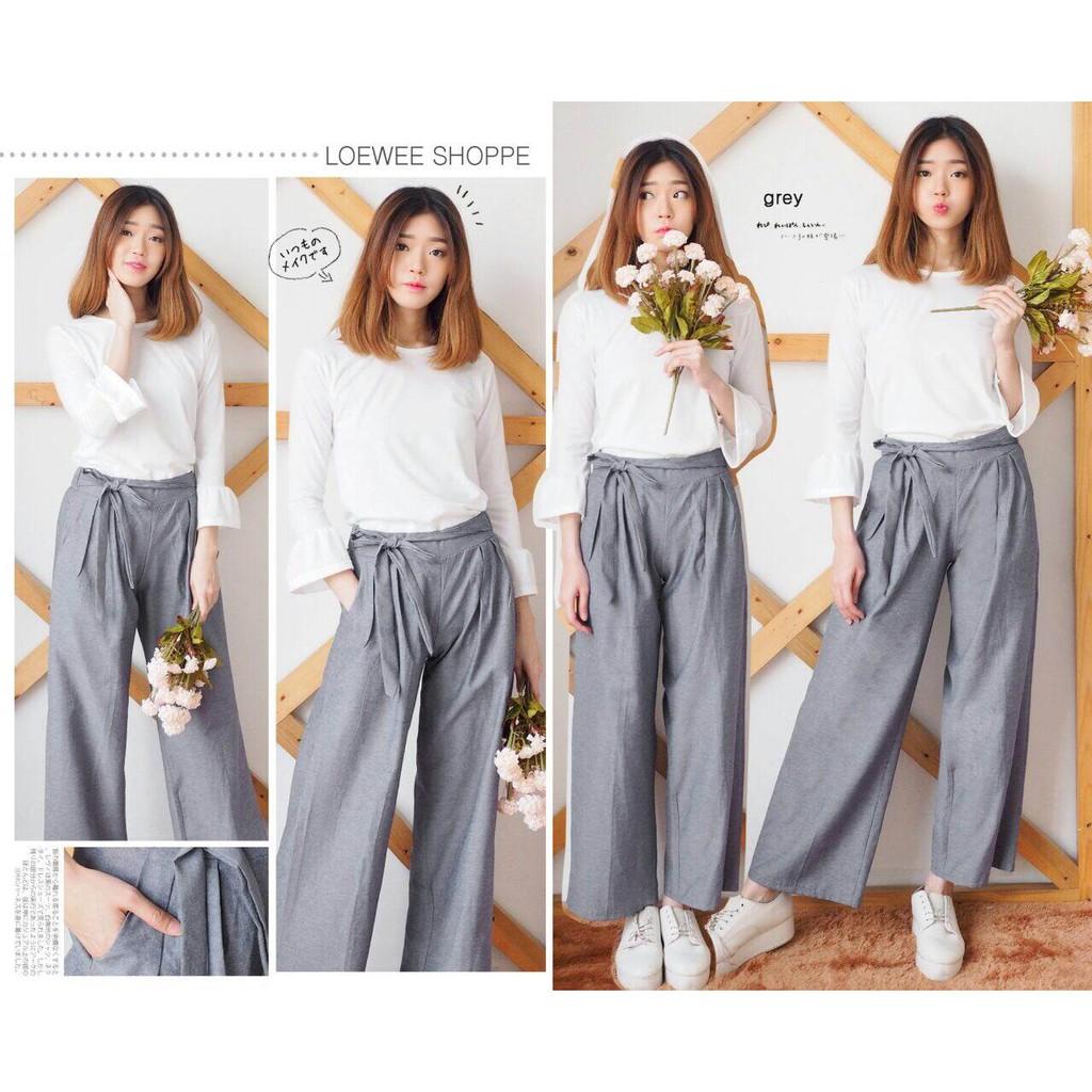 Celana Zara Checker Trousers Wedges Knit Plaid Pants Shopee Indonesia Nagita List Side Stripe Hitam Merah Bahan Scuba