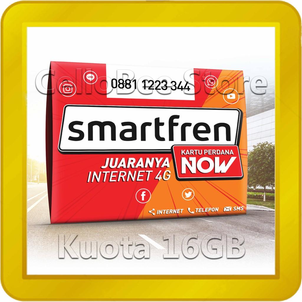Kartu Perdana Smartfren Now Kuota 16gb Internet Data 4g Lte Shopee Xl 250 Gb Indonesia