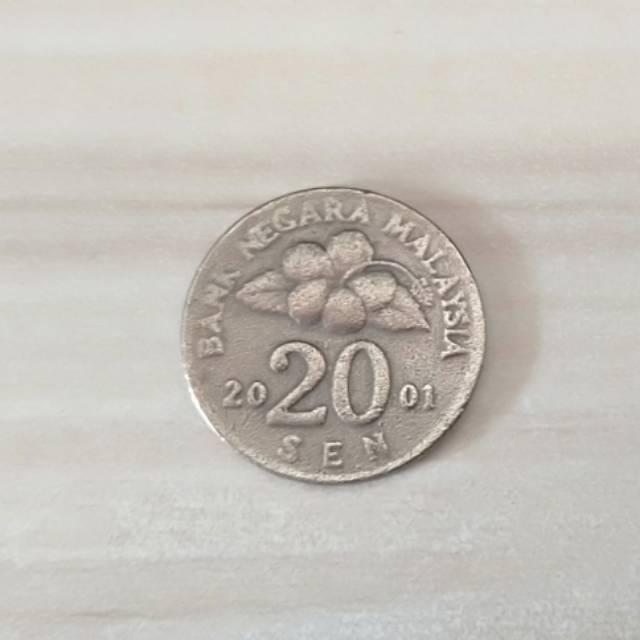 Uang Koin 20 sen Ringgit Malaysia