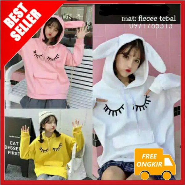 Promo Sweater Korea Pocket Baju Keren Wanita Atasan Harian Lucu Pakaian Cewek Terlaris Shopee Indonesia