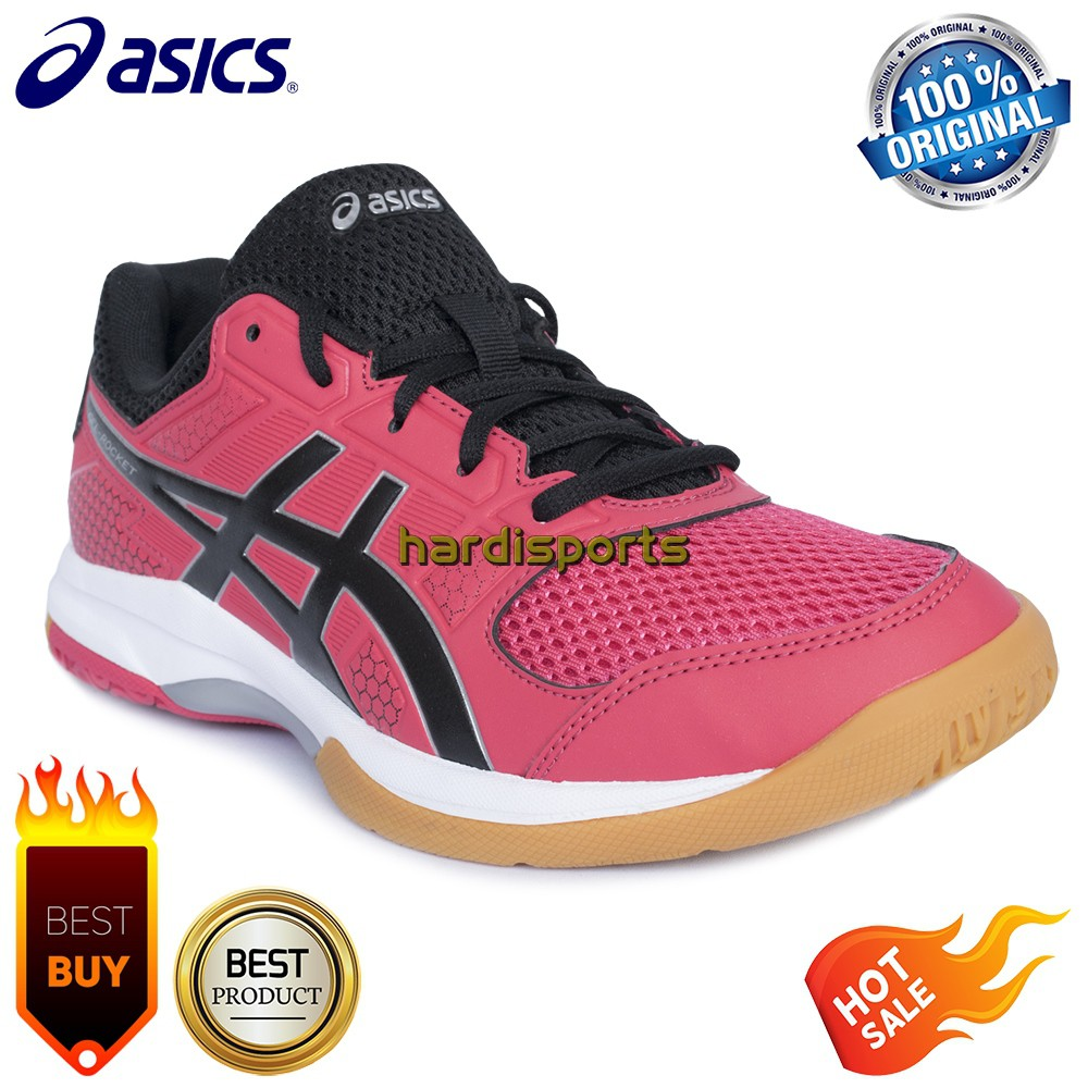 Sepatu Asics Gel Rocket Badminton Volly Tenis Meja Indoor Sport Original..   7f4df1b305