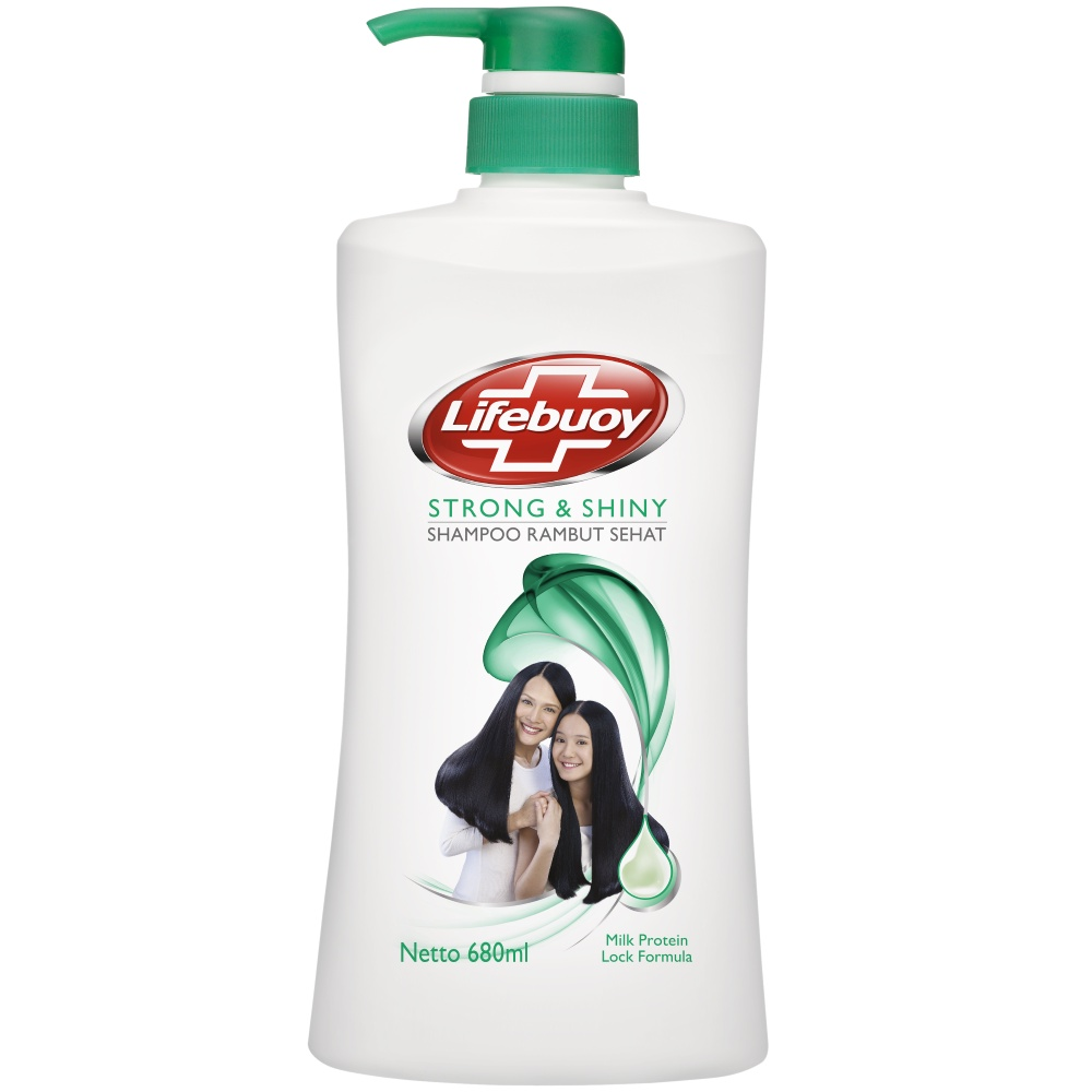 Lifebuoy Shampoo Strong And Shiny 680 Ml - Perawatan Rambut Berkilau-1