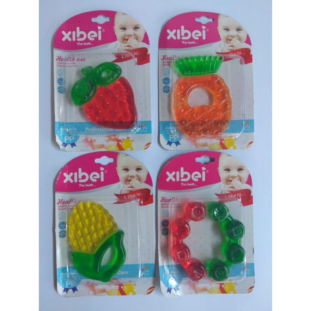 IQ baby Teether Fruit strawberry and Grape/Gigitan bayi buah anggur dan strawberry | Shopee Indonesia