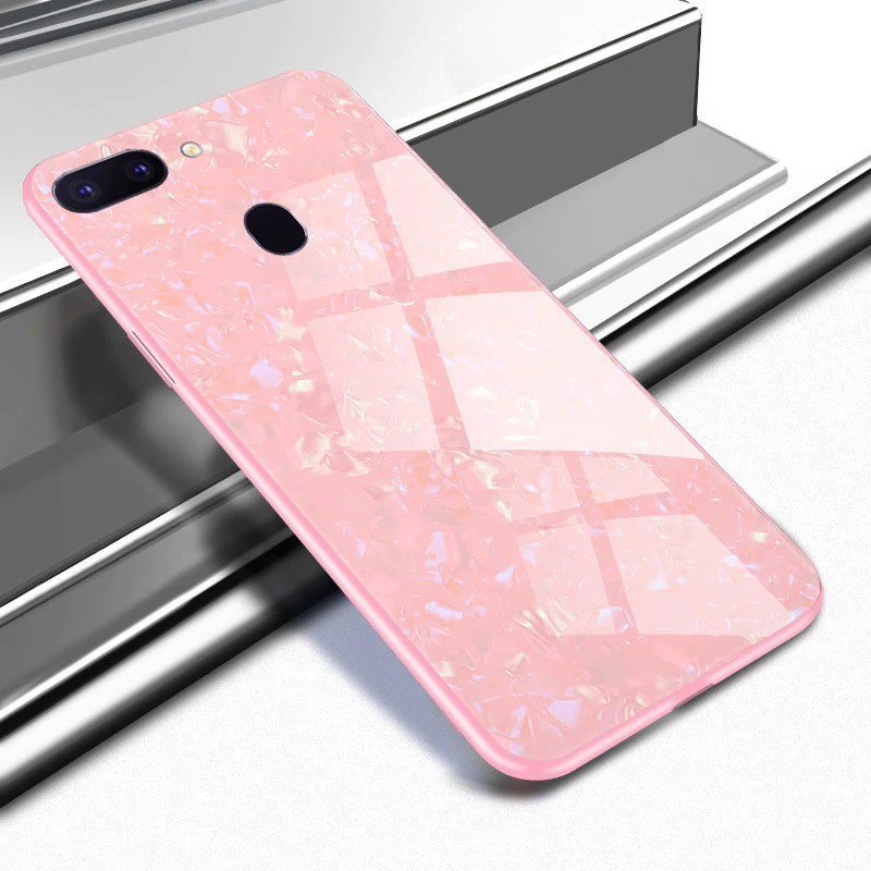 Oppo Realme 2 Pro Luxury Shining Marbles Tempered Glass Case Ultra