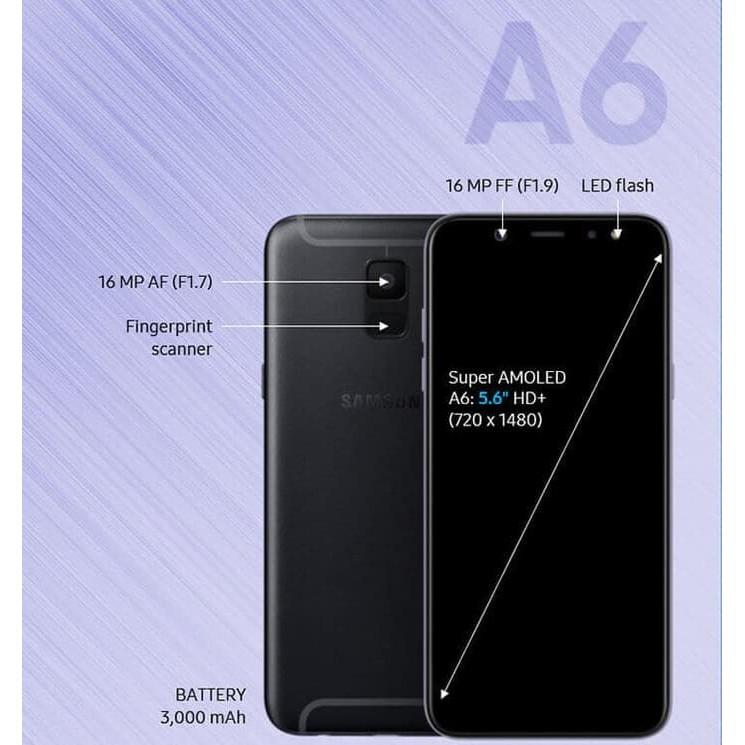 Samsung Galaxy A6 RAM 3GB ROM 32GB GARANSI RESMI SEIN