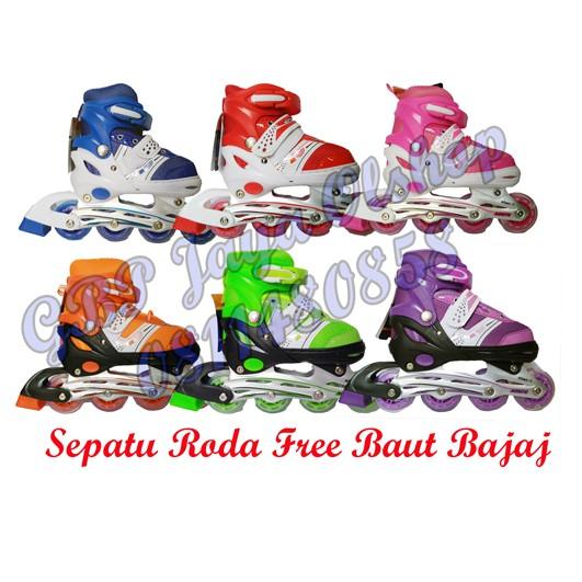 Jual Sepatu Roda Anak Power Inline Skate POWER SUPERB Model BAJAJ semua roda  nyala terakhir  cd36156327