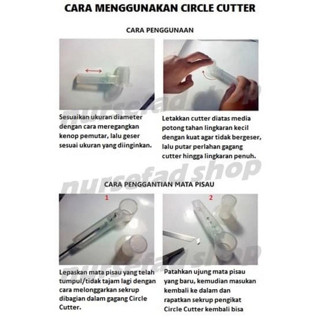Murah Alat Pemotong Lingkaran Pemotong Kertas Bulat Circle Cutter Keren Shopee Indonesia