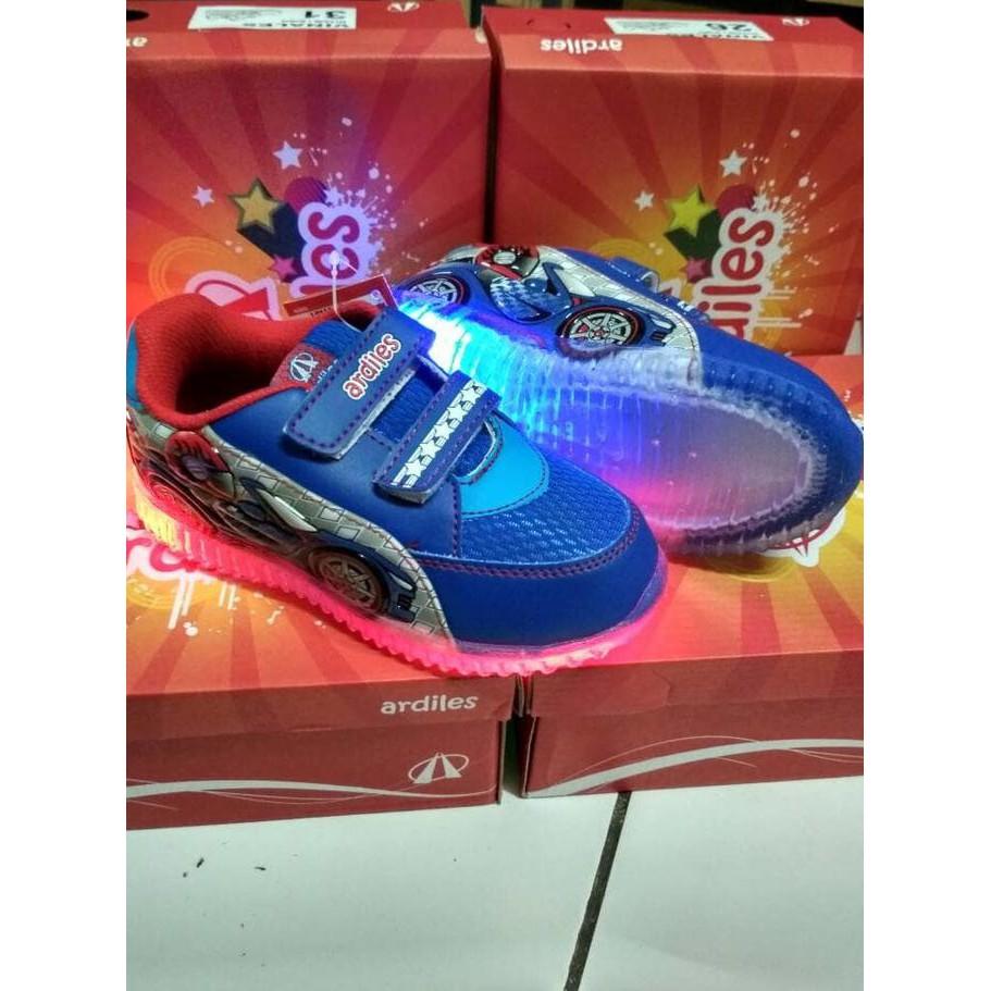 Sepatu Badminton Ardiles Sekolah Anak Perempuan Ardiles Sepatu Anak Lampu Eboy Blue Red Nyala Temukan Harga