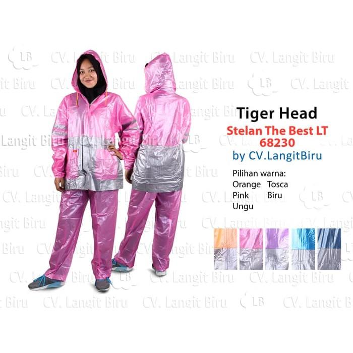 TABASA Jas Hujan Stelan The Best LT Tiger Head 68230 Rain Coat Setelan Celana | Shopee