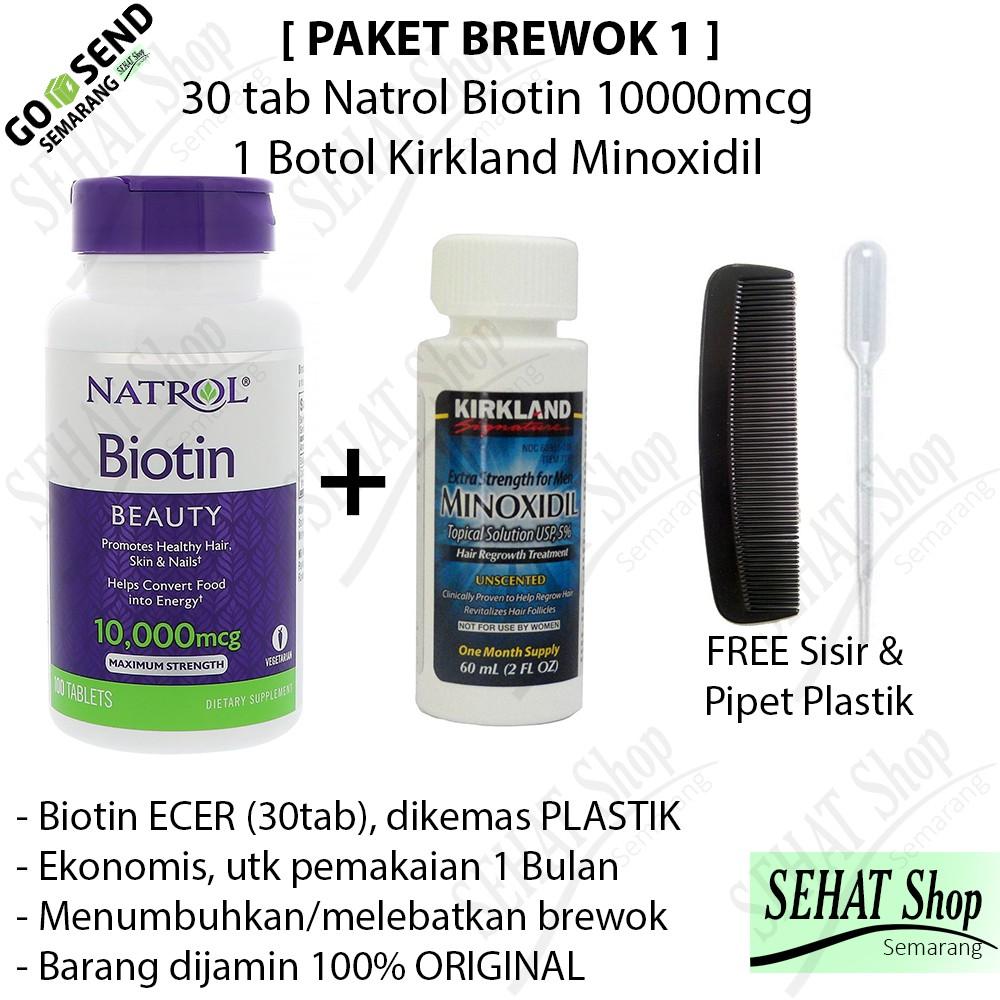 Kirkland Minoxidil 5 Biotin 7500mcg Obat Jitu Penumbuh Brewok Rogaine Foam For Men Rambut Dan Mengobati Kebotakan Pada Pria Produk Usa Jenggot Shopee Indonesia