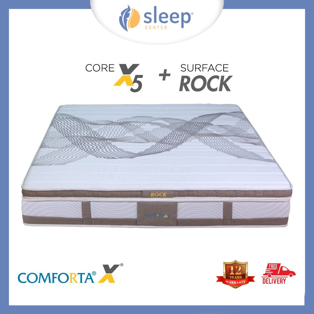 Sleep Center Comforta Superfit Bed Set Super Silver White Blue Bantal Dacron Brown Shopee Indonesia