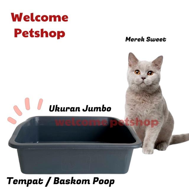 Tempat Baskom Kotoran Kucing Tempat Poop Kucing Ukuran Jumbo Shopee Indonesia