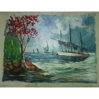 550 lukisan pemandangan pantai mudah Terbaik