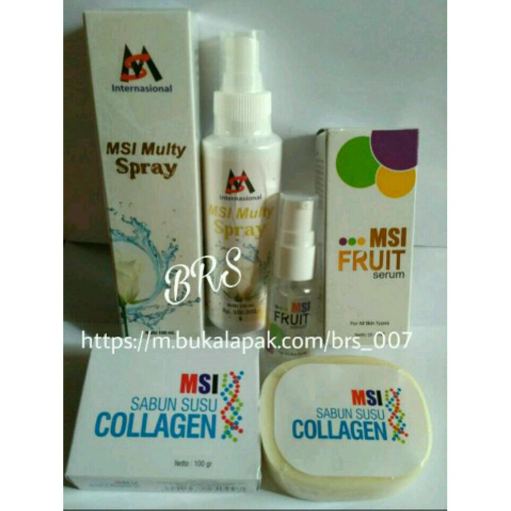 Paket Msi 4in1 Ion Spray Multy Serum Sabun Silver Perak Original Member Biospray Bio Fruit Susu Collagen