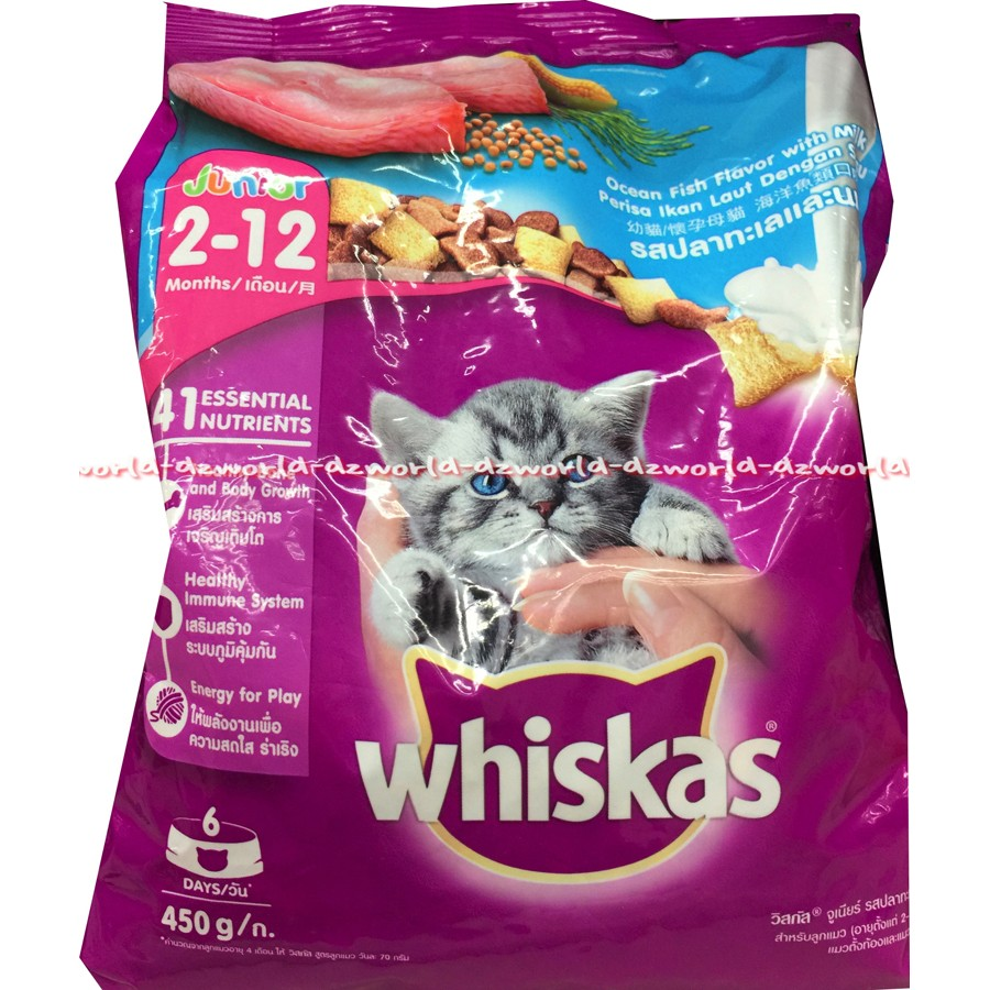 Whiskas Dry 12kg Makanan Kucing Kering Rasa Ocean Fish Shopee Sheba Melty 48gr Basah Tuna Indonesia