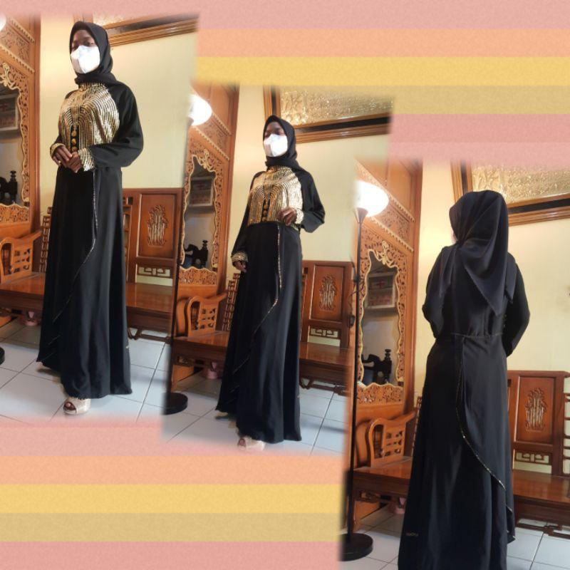 baju gamis abaya hikmat fashion