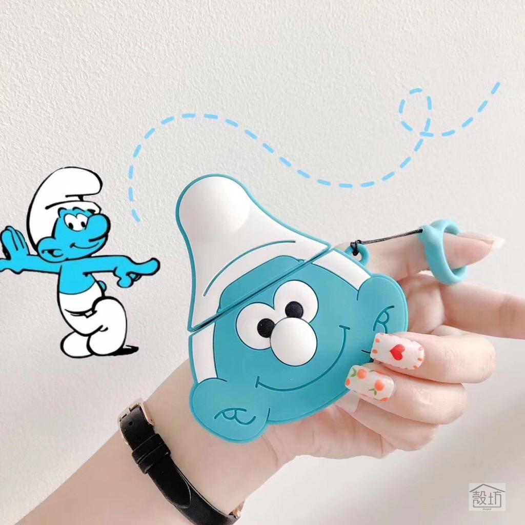 Set Headset Apple Airpods 1 2 Desain Kartun Penyihir Warna Biru Shopee Indonesia
